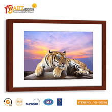 Fashion canvas framed tiger oil painting for living room