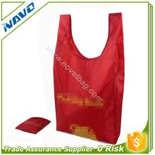 Trade Assurance Custom Logo Foldable Nylon Shopping Bag