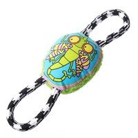 Plush Suppliers Sound Dog Toy Ball On Rope Squeaky Large Soft Toys For Dogs Chew Resistant Dog Rope Ball Toy