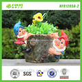 jardim decorar o projeto de madeira vaso de flores