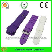 2012 natual perfect design rubber watch strap 26mm