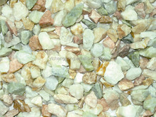 cheap China mixed colors natural crushed stone for paving