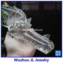 2014 Made in china Fashion Carved Rose Quartz Dragon Head Bead