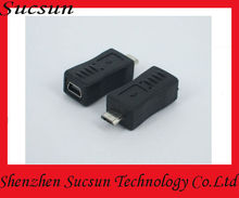 5pin mini usb to 5pin micro usb charger data adapter connector