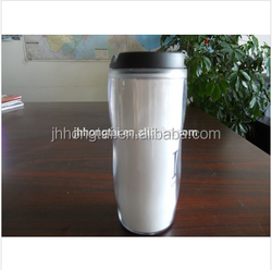 2015 450ML Promo New PP Plastic Thermos Insert Paper Travel Mug with lid