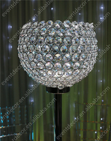 Pillar crystal candle holder wholesale/ crystal candlesticks centerpieces for wedding table