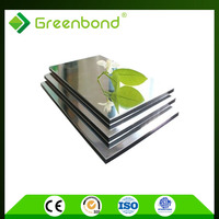 Greenbond interior silver mirror surface aluminum composite panel