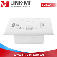 Wholesale Alibaba HDBaseT RJ45 HDMI Socket Wall Face Plate, HDMI Extender Cat5ex1 With IR, CEC 328ft/100m