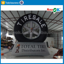 Advertising inflatable model large inflatable tire model