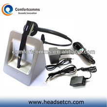 Professional high quality 2.4GHz call center headphone headset wireless microphone system CW-3000