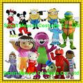 super suave de la felpa de dibujos animados para adultos disfraces mascota