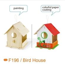 DIY painting 3D puzzle bird nest