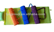 Colorful choise folding straw beach mat,straw beach mat with inflatable pillow