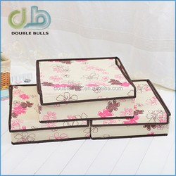 house upscale oxford cloth underwear storage box with cover collection box / storage case / storage box