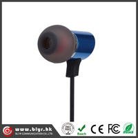 Factory made good quality metal stereo earphone phone with mic