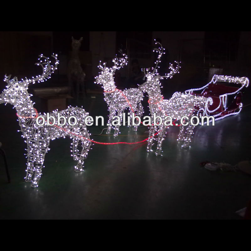 2013 outdoor christmas reindeer and sleigh motif buy. Black Bedroom Furniture Sets. Home Design Ideas
