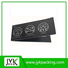Wholesale custom printing black hang tag images for clothing