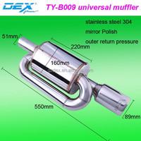 Tianyu DEX sport exhaust outer back pressure muffler