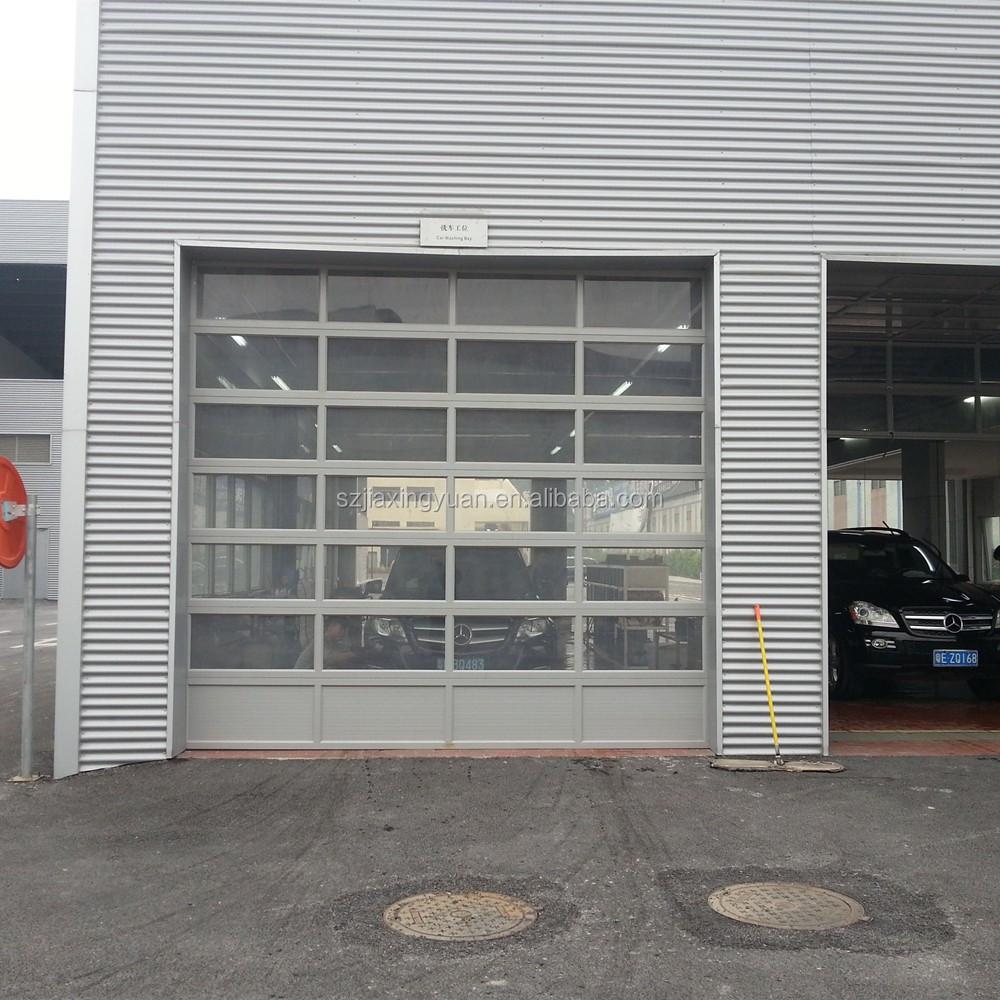 Aluminum frame frosted glass transparent garage door buy for Opaque garage door