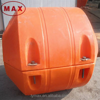 Orange MDPE Plastic Dredging Pipe Floats, Plastic Buoy Floater