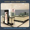 comercial de madera de joyas de cristal de los casos para centro de visualización