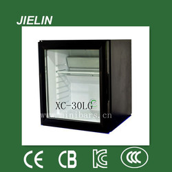 Clear glass door type for wholesale and retails portable installation 30L car fridge refrigerator small size