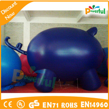 Big Discount high quality inflatable blue pig model for sale