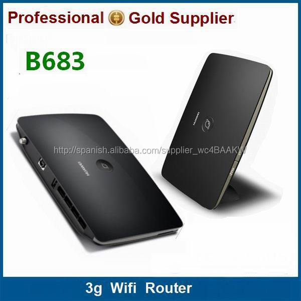 Portable 3 g mobile router 3 g wifi hotspot 28 M huawei B683 con ranura de la tarjeta sim