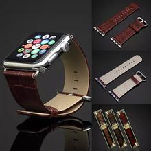 For Apple Watch Crocodile iWatch Leather Wrist Band Strap Watch Belt