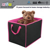 The big black with pink folding mesh and modern laundry basket