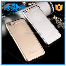 Fashion Transparent Ultrathin Electroplating PC Case Cover for iphone 6 4.7inch