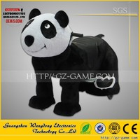 Shopping mall kids car games baby panda ride toys, reindeer stuffed animals for sale