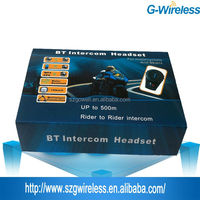 wireless full duplex motorcycle helmet bluetooth headset/intercom