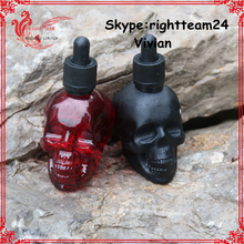 skull red 1oz glass bottle e liquid with child proof dropper sale now 30ml 60ml 120ml