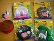 14081816 factory direct selling azo-free kids craft felt kits, education sew your own kit for kids, schools