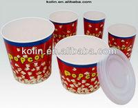 24oz-170oz popcorn bucket/popcorn tub/popcorn container