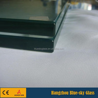 High strength 19mm tempered glass for building