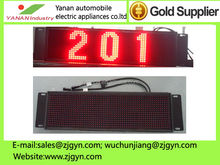 P10 bus led display sign for bus stop showing bus route number and message