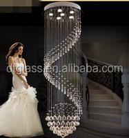 High Quality Modern Spiral Down Crystal chandelier lighting for Wedding decoratipn