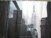 CITY Restoring ancient ways polyester shower curtain factory directly sell