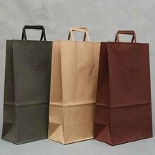 colourful ruled paper bag flat handle