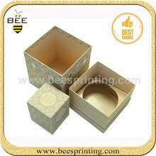 simple flat custom candle paper box/packing box wholesale for gift packing