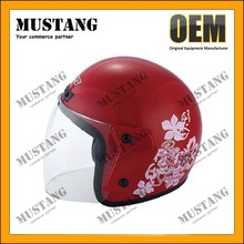Flip Up Open Face Helmet Crash Helmets With Double Visor