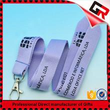 Red white blue ribbon flat type lanyard