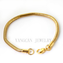 Importer of gold bracelet chain snake stainless steel for men MB--077