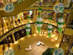 Green spring shopping centre decorations