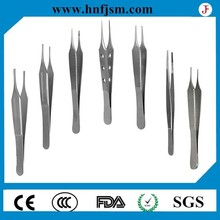 FJ-0010 stainless steel plastic surgical forceps/tweezers with CE,ISO,FDA approved