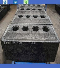 low sulfur and low electrical receptivity anode carbon block for cell