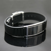 low price silicone balance bracelet with 2000cc ions and 3000guass magnets