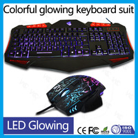 VMT-08 Tri-color backlit keyboard and ergonomic glowing mouse gaming keyboard mouse